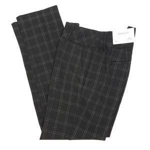 Womens Straight Fit Mid Rise Dress Pants